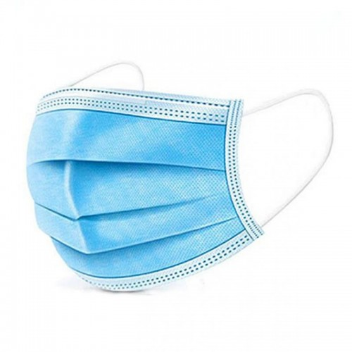 Disposable protective mask, 3 layers, 3 folds