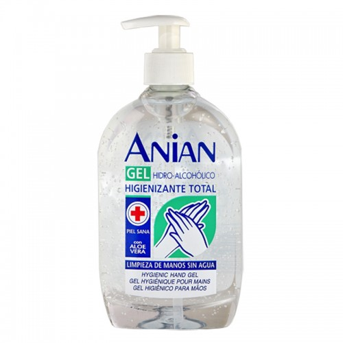 Anian Hand Sanitizing Gel Hydroalcoholic Classic with Aloe Vera 500 ml