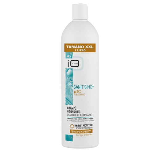IO Planet Sanitising+ Sanitising Shampoo with original Lemon extract, Aloe Vera and Papaya 1000 ml